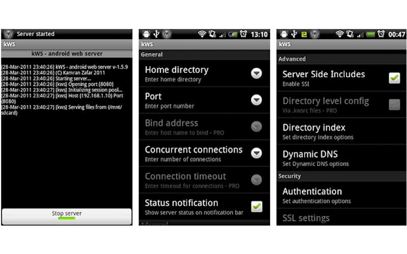 4 kWS - Android Web Server