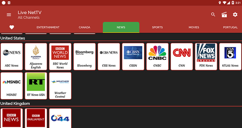 Live NetTV APK App (Free Online TV Streaming and HD Movies)
