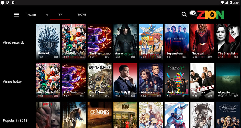 TVZion APK App (Free HD Movies)