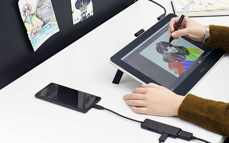 The Wacom One Pen Tablet Connects To Your Android Phone