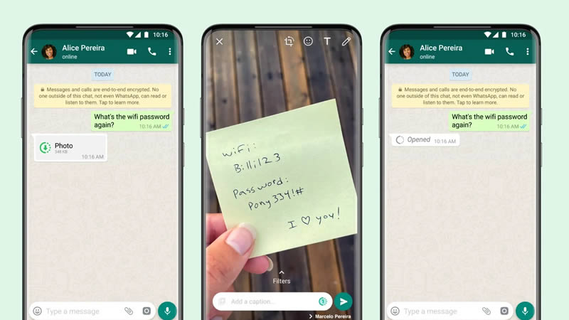 View Once Photos and Videos on WhatsApp