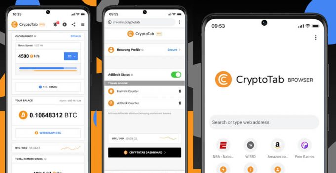 Download CryptoTab Browser Pro Level APK Mod