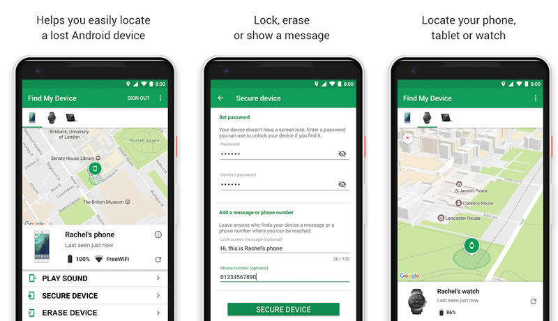 Google Find My Device - Find My Phone Apps For Android